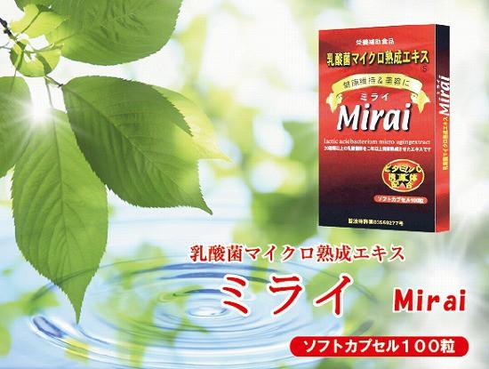 ミライ ソフトカプセル100粒 乳酸菌マイクロ熟成エキス